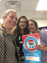 Kimberlee & Amanda from WECANN working with Laura from Action Together to register voters at the Cape Ann YMCA. More voter registration events to come!: September 26, 2017