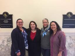 Great meeting with Ann-Margaret Ferrante on Beacon Hill this AM. Hannah, Laura Wiessen (of Action Together MA & No. Shore) and I learned a LOT, explained our support of several pending bills, and shared our questions and concerns. Our sister orgs on Cape Ann will be partnering on some progressive initiatives together---learn more at our next WECANN meeting on 5/30. ;) : May 15, 2017
