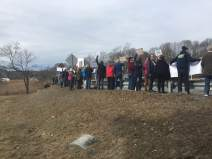 Amazing turnout today (2/24/18)! Thank you to everyone who came out and said #NEVERAGAIN ! All 150+ of us filled the whole guardrail! All ages and walks of life participated. Yes, WECANN!